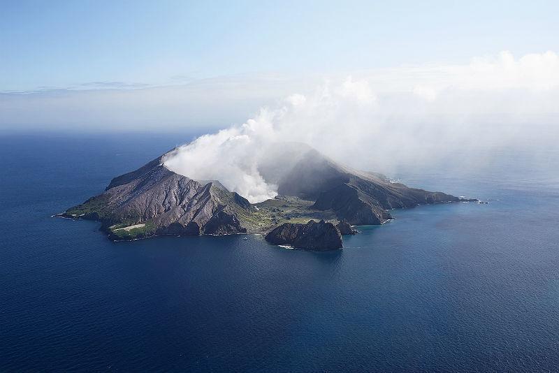 Vista panorâmica da White Island