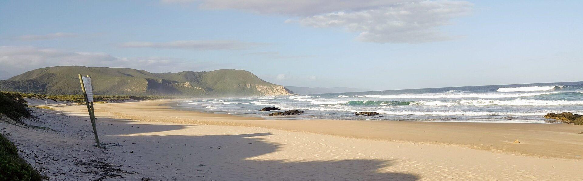 Vista da praia de Nature's Valley