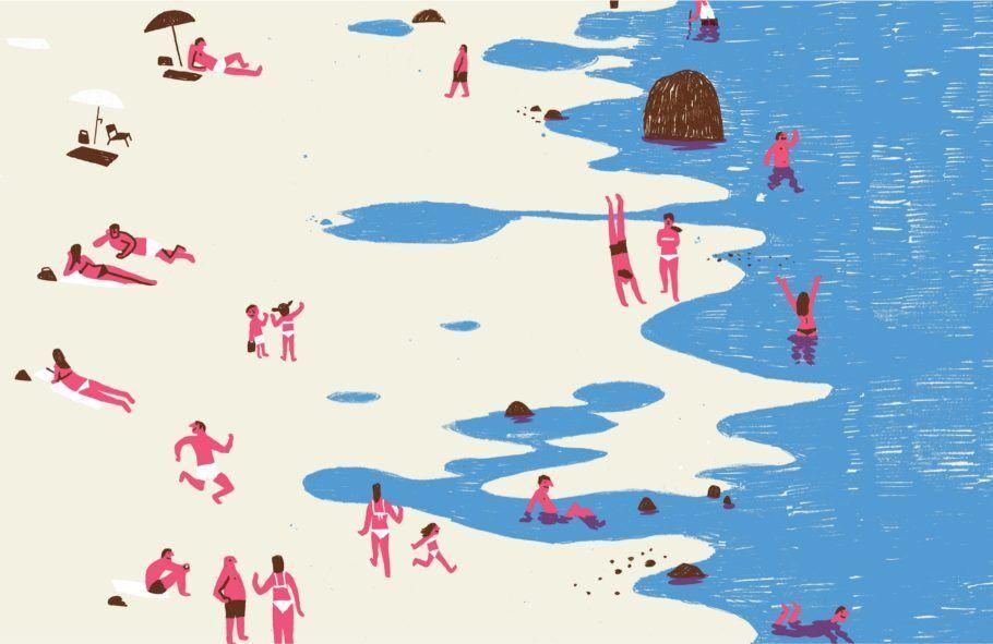 Ilustração de Bernardo Carvalho presente na exposição