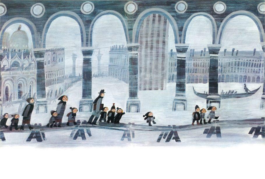 Ilustração de Stepan Zavrel presente na exposição