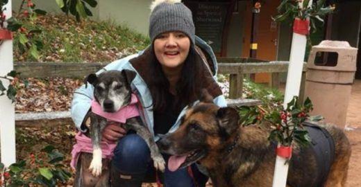 Por compaixão, enfermeira acolhe cães em estado terminal
