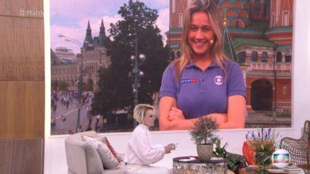 Ana Maria Braga faz simpatia para Fernanda Gentil na TV