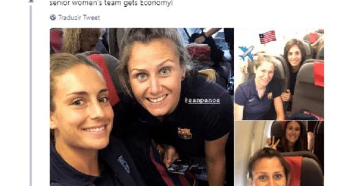 Barça embarca homens na classe executiva e mulheres na econômica