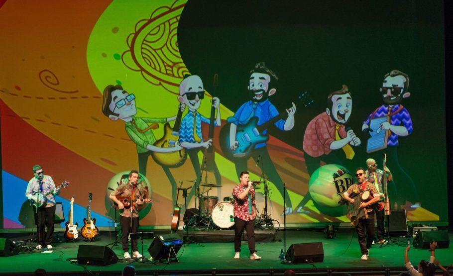 Banda Beatles para Crianças no palco