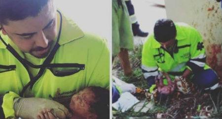 Bebê nasce após mãe ser arremessada de caminhão em acidente