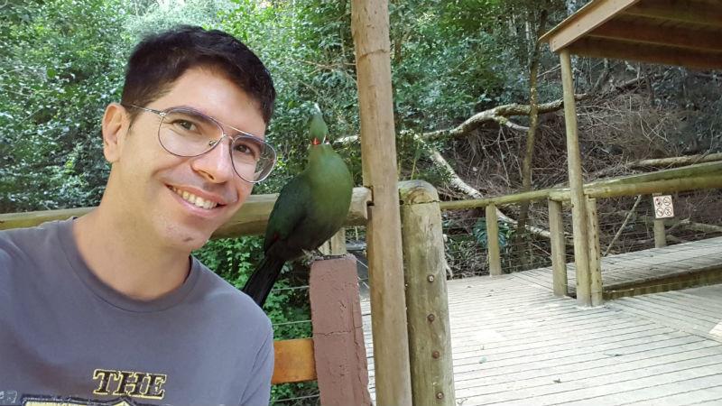 Uma das mais de 3.500 aves do Birds of Eden