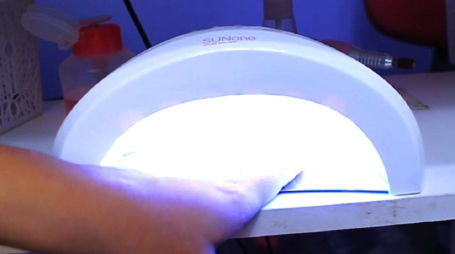 Cabine de luz de manicure