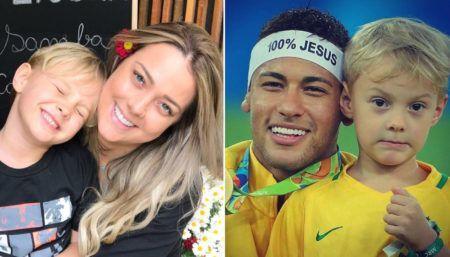 Neymar, David Lucca e Carol Dantas