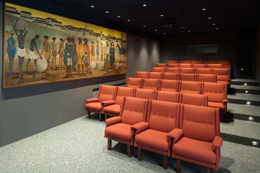 Sala de cinema da Casa Roberto Marinho