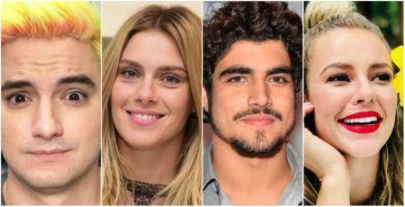 Paolla Oliveira, Felipe Neto, Caio Castro, Carolina Dieckmann