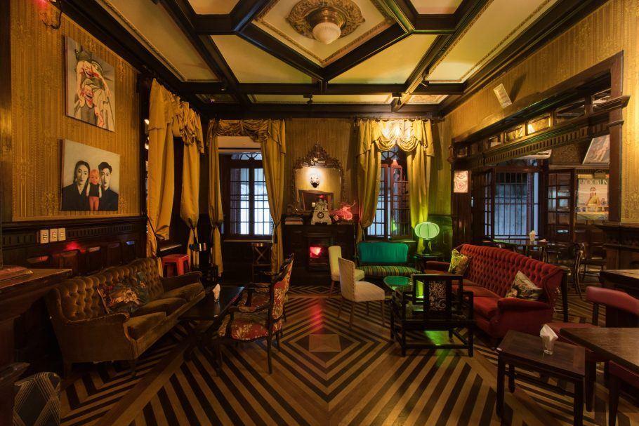 O bar está situado em um casarão dos anos 1920 no centro de São Paulo