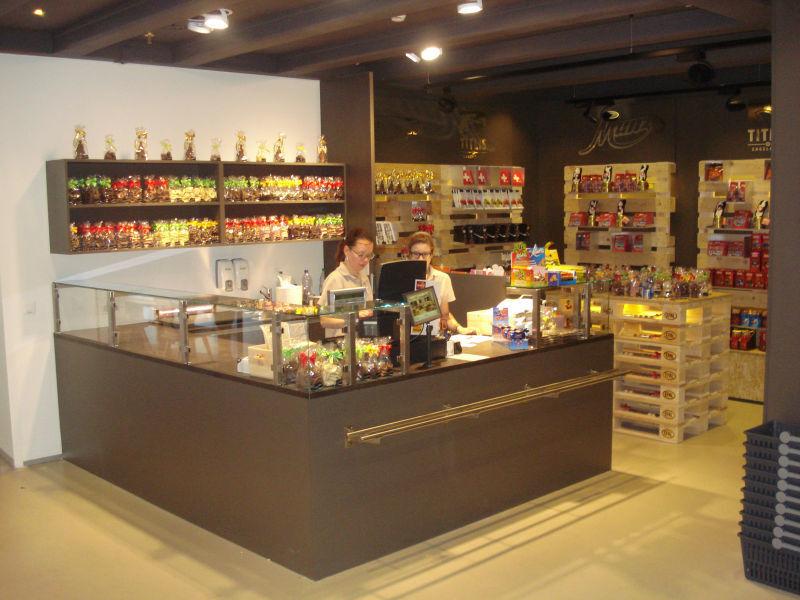 Loja de Chocolates Titlis oferece uma grande variedade da guloseima que é símbolo da Suíça
