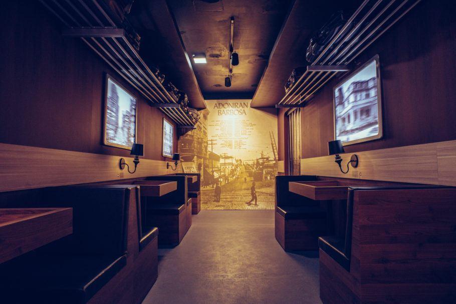 Sala da exposição Trem das Onze