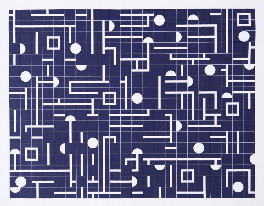 Projeto para painel de azulejos no Ministerio das Relações