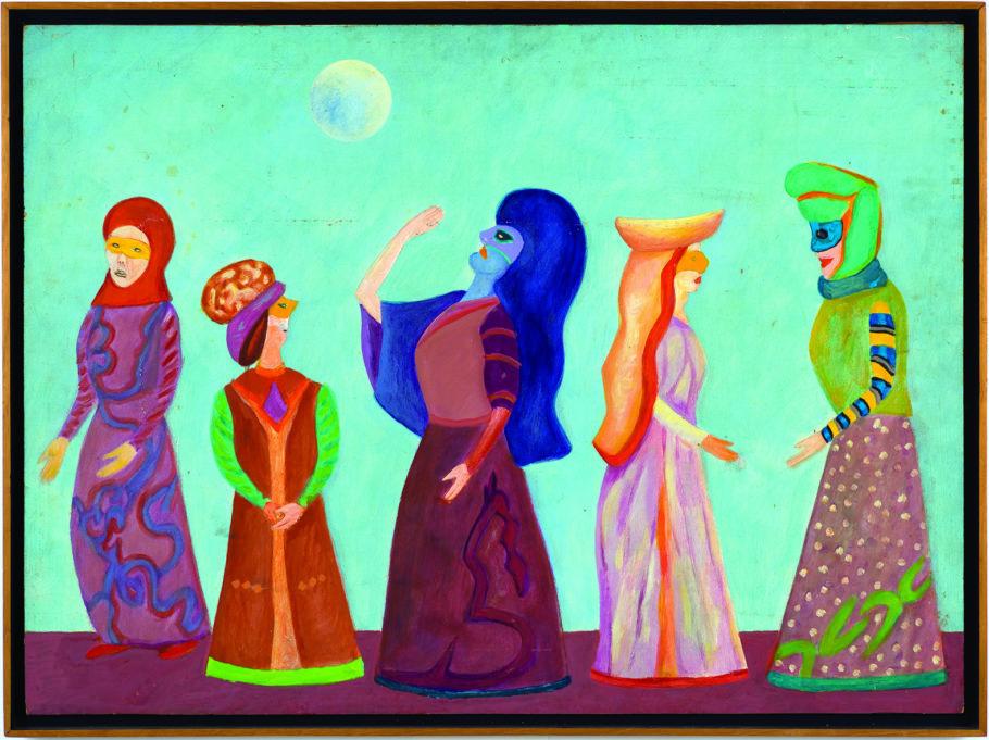 Pintura da série sobre carnaval