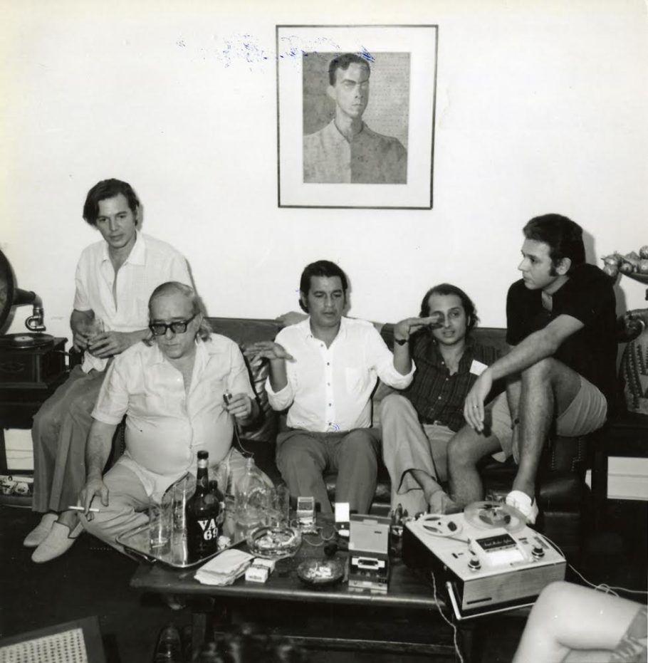 Tom Jobim, Vinicius de Moraes, Ronaldo Bôscoli, Roberto Menescal e Carlos Lyra