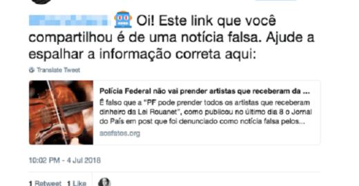 Aos Fatos estreia robô no Twitter para combater fake news