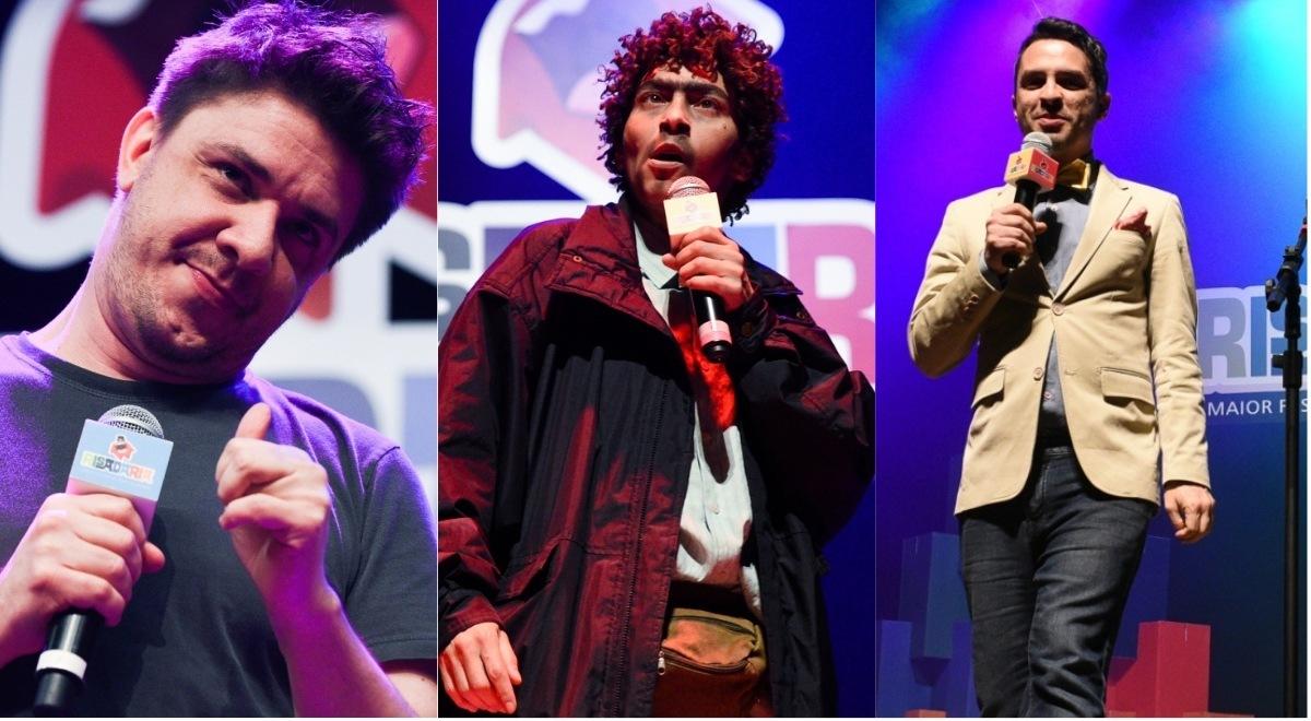 Oscar Filho, Marlei Cevada e Bruno Motta - Festival Risadaria