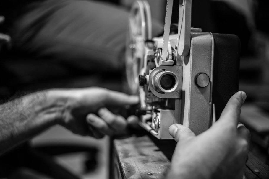 Projetor de filmes em super 8mm