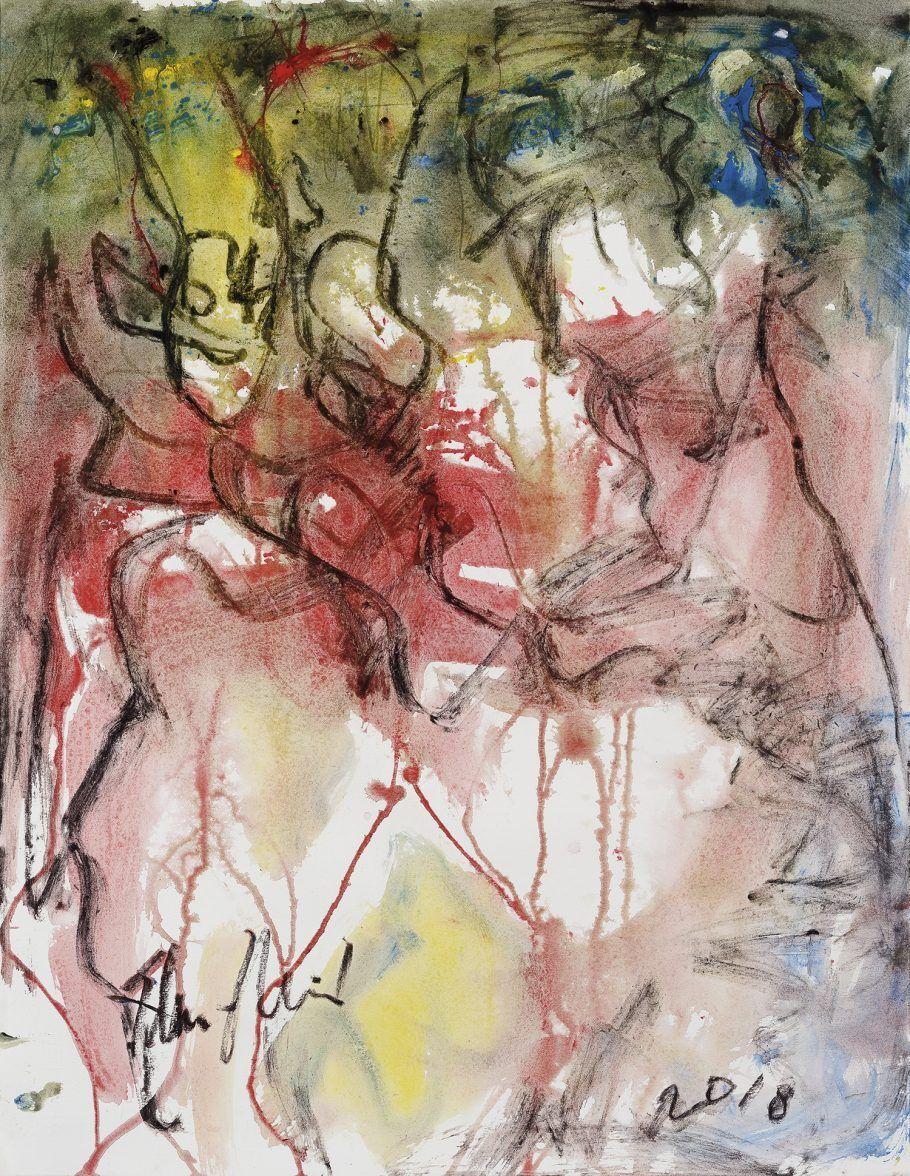 Obras Sem Título (2018) é um dos trabalhos mais recentes do pintor