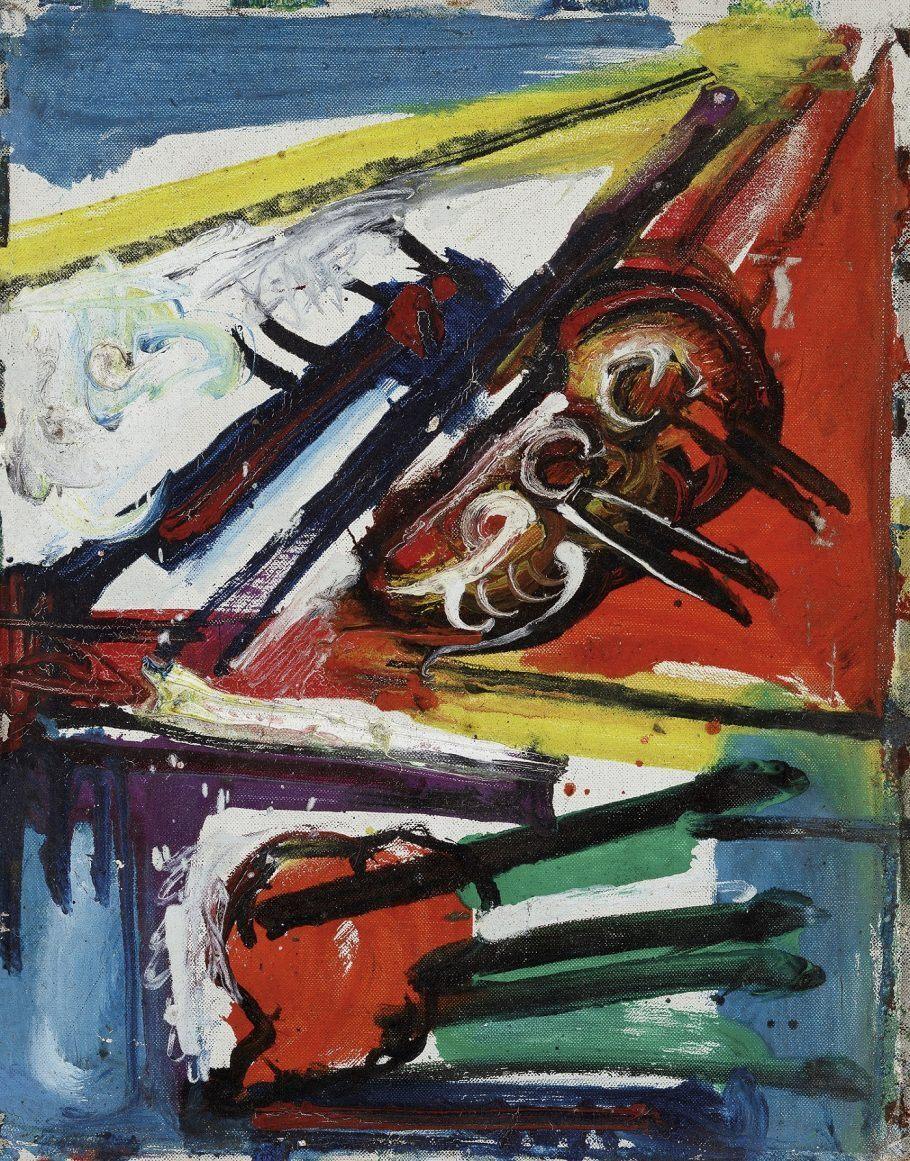 Obra Sem Título (1960) - Shiró foi estudar em Paris em 1953