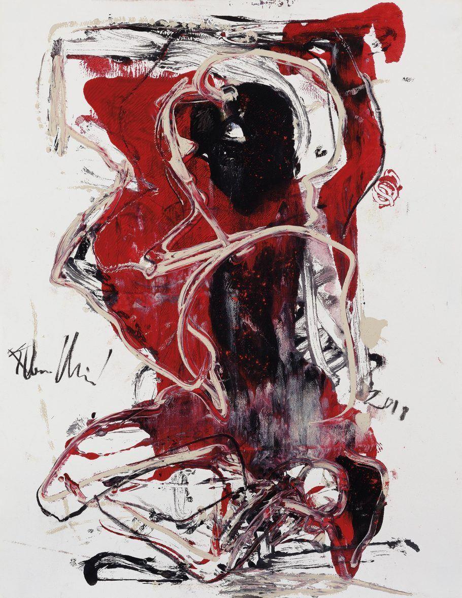 Obra Sem Título (2018). Flavio-Shiró nasceu no Japão em 1928 e veio ao Brasil em 1932