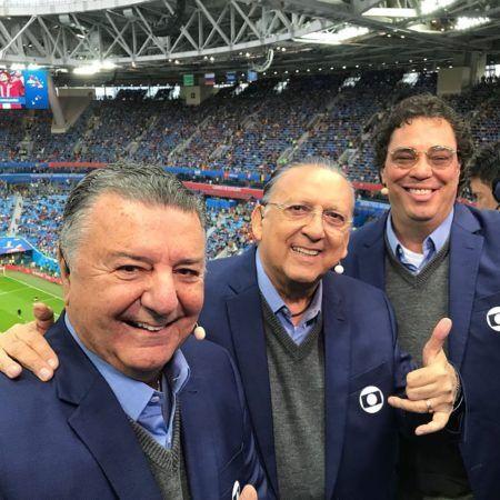 galvão bueno com comentaristas da Globo