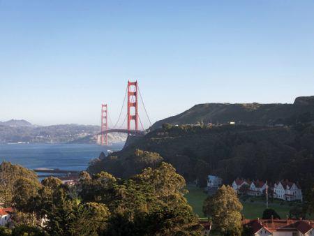 A famosa Golden Gate, um dos cartões-postais mais famosos da Califórnia