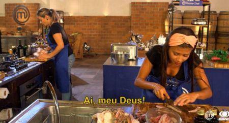 'MasterChef Brasil': Eliane leva bronca por cabelo no peixe