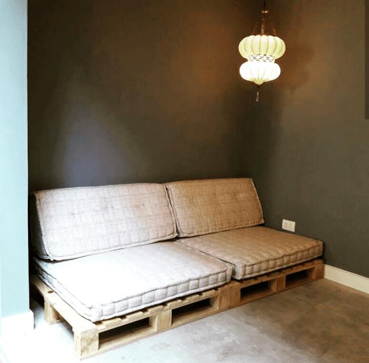 Um sofá sustentável