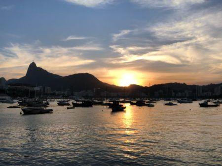 Um dos pores do sol mais bonitos do Rio é o da Mureta da Urca