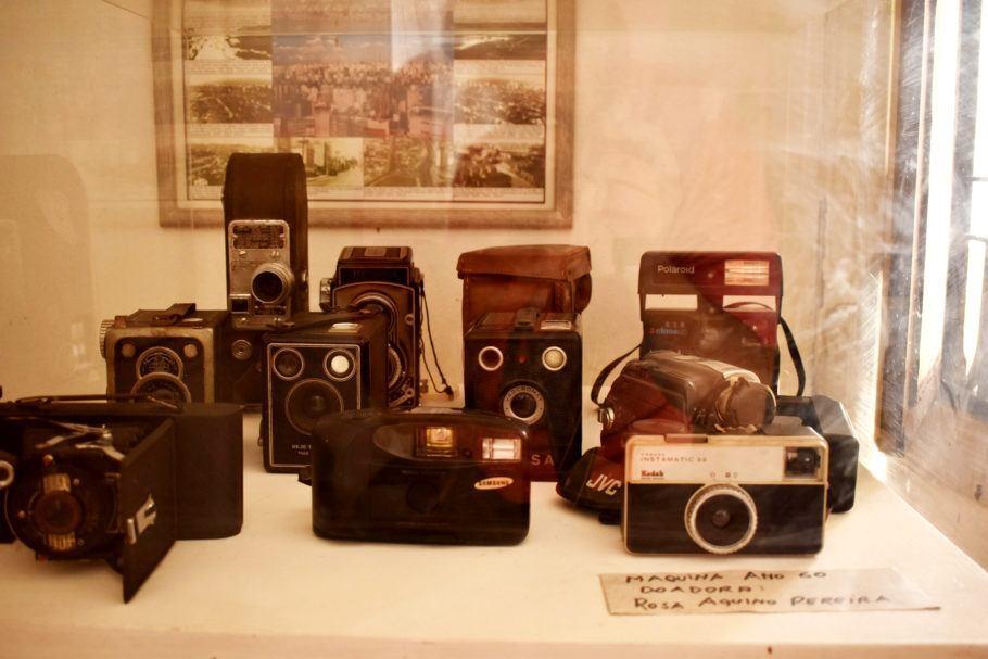 Máquinas fotográficas do acervo do museu