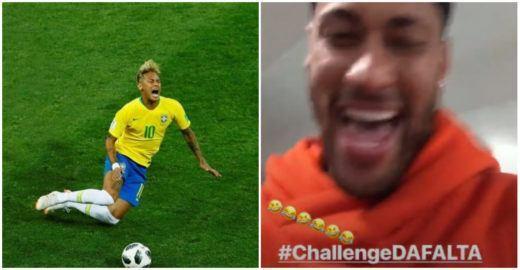 Neymar Jr. responde piadas sobre suas quedas na Copa e surpreende