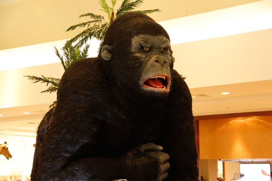O King Kong --de quatro metros de altura-- é uma das novidades do parque
