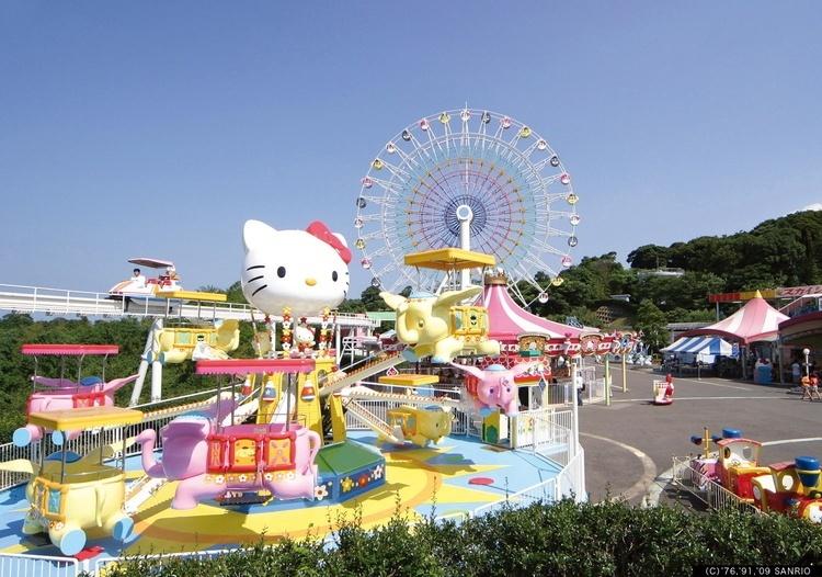 Harmonyland é um parque temático dedicado aos personagens de Sanrio. como a Hello Kitty