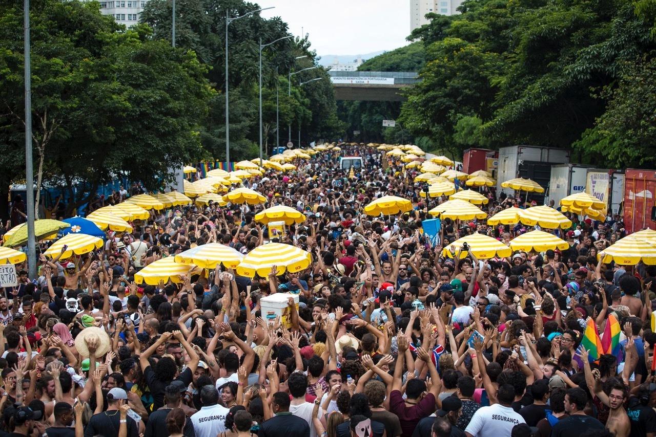 Bloco de rua no Carnaval de São Paulo