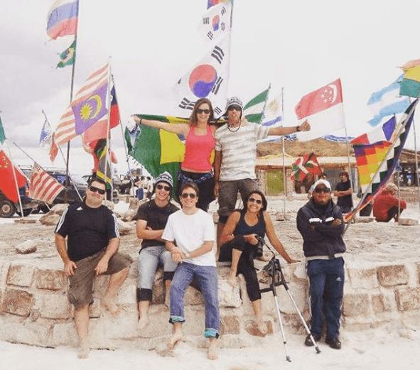 Com o grupo que atravessei o Salar de Uyuni