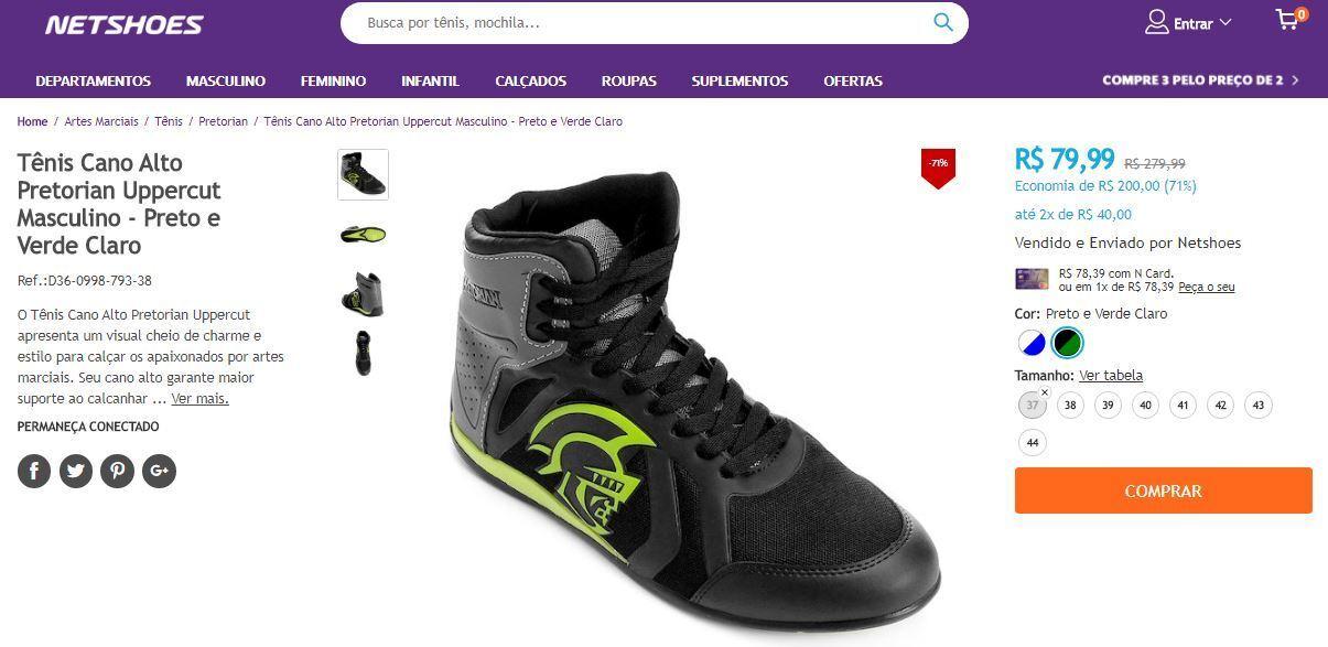 949f09c005 Crédito  reprodução   site NetshoesNday tem produtos com até 80% de desconto