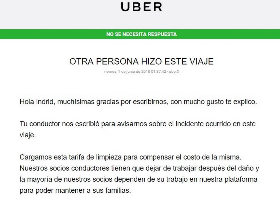 comunicado do uber