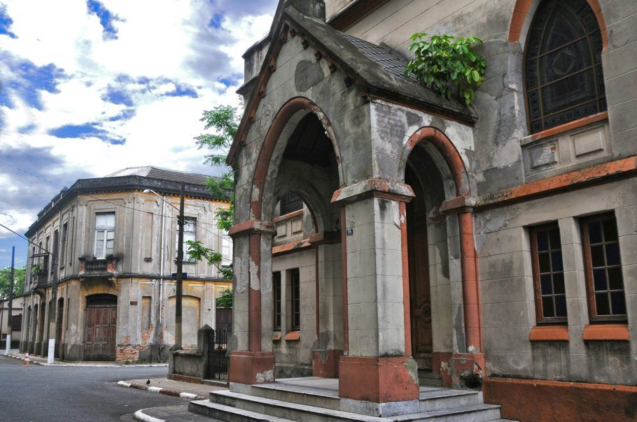 fachada de igreja na Vila Maria Zélia