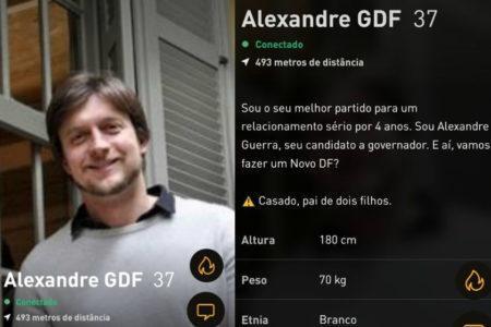 candidato ao governo do df usa app gay para pedir voto