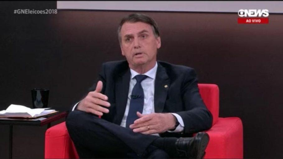 Jair Bolsonaro na GloboNews