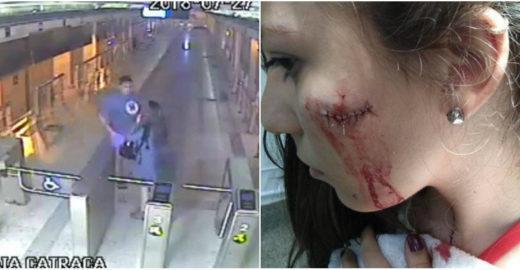 Vídeo mostra jovem sendo esfaqueada por ladrão em estação no RJ