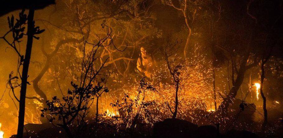 A campanha de combate às queimadas quer evitar incêndios como esse, que aconteceu na Chapada dos Veadeiros em 2017