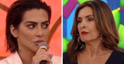 Cleo participa do 'Encontro com Fátima' e lábios chamam a atenção