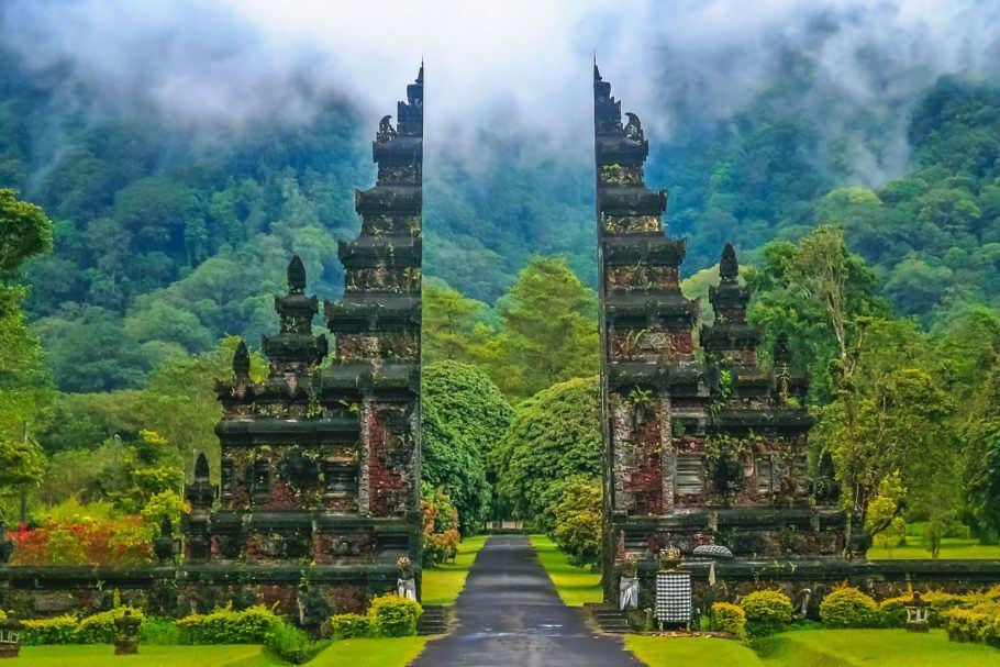 Templo em Bali, na Indonésia, um dos países que estão no roteiro do cruzeiro de volta ao mundo
