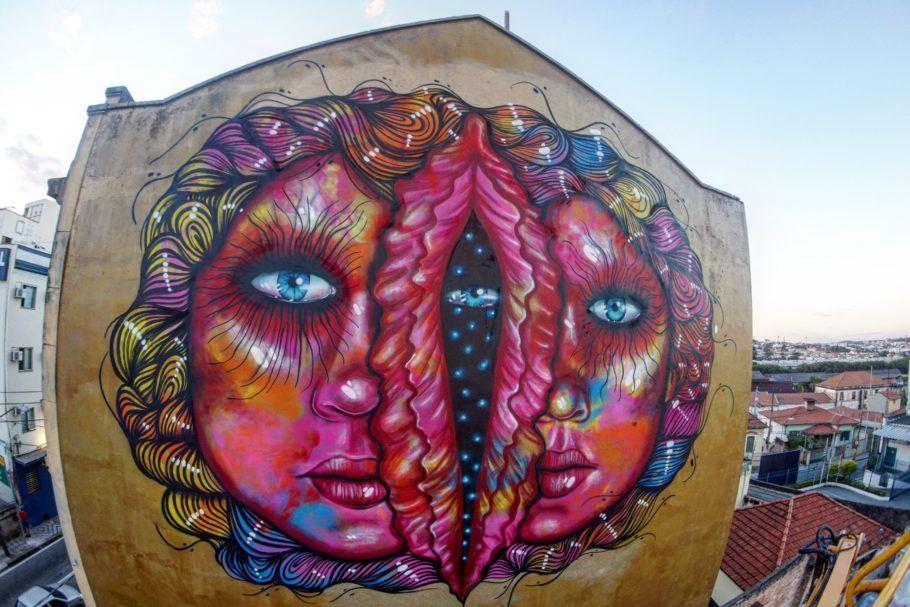 Fotografia do graffiti de Panmela Castro que foi apagado em Sorocaba