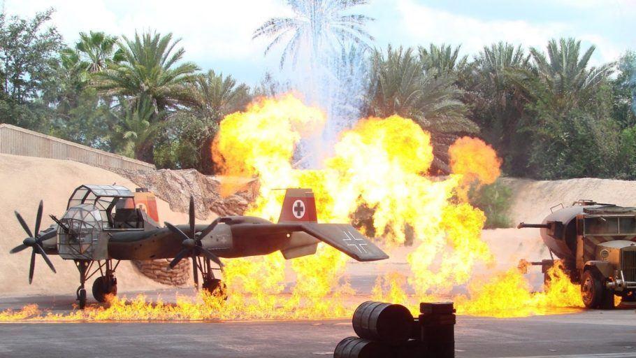 Trecho do Indiana Jones Epic Stunt Spectacular