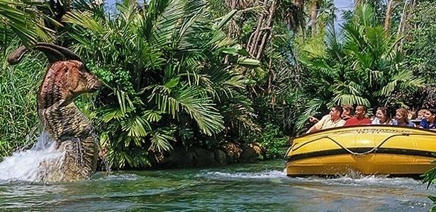 Atração do Jurassic Park River Adventure