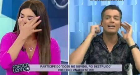 Mara Maravilha chora no Fofocalizando após alfinetada de Léo Dias